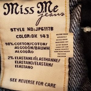 Miss Me Jeans - Miss Me bootcut jeans, crystals & mesh lace, EUC